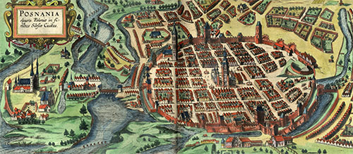 Posnania (Poznań), ca. 1617, view from north
